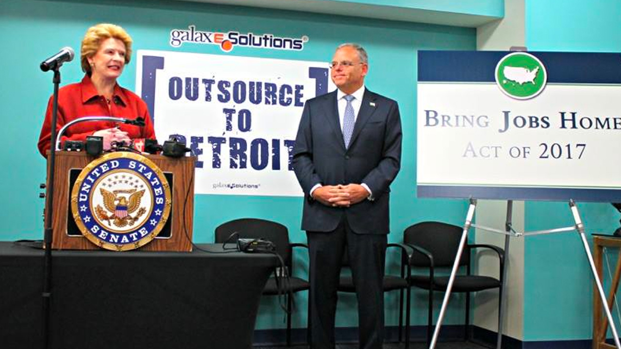 Senator Stabenow announces 'Bring Jobs Home Act' in Detroit