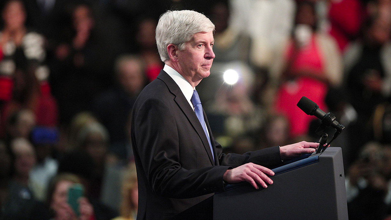 Gov. Rick Snyder Speaks at GalaxE Solutions