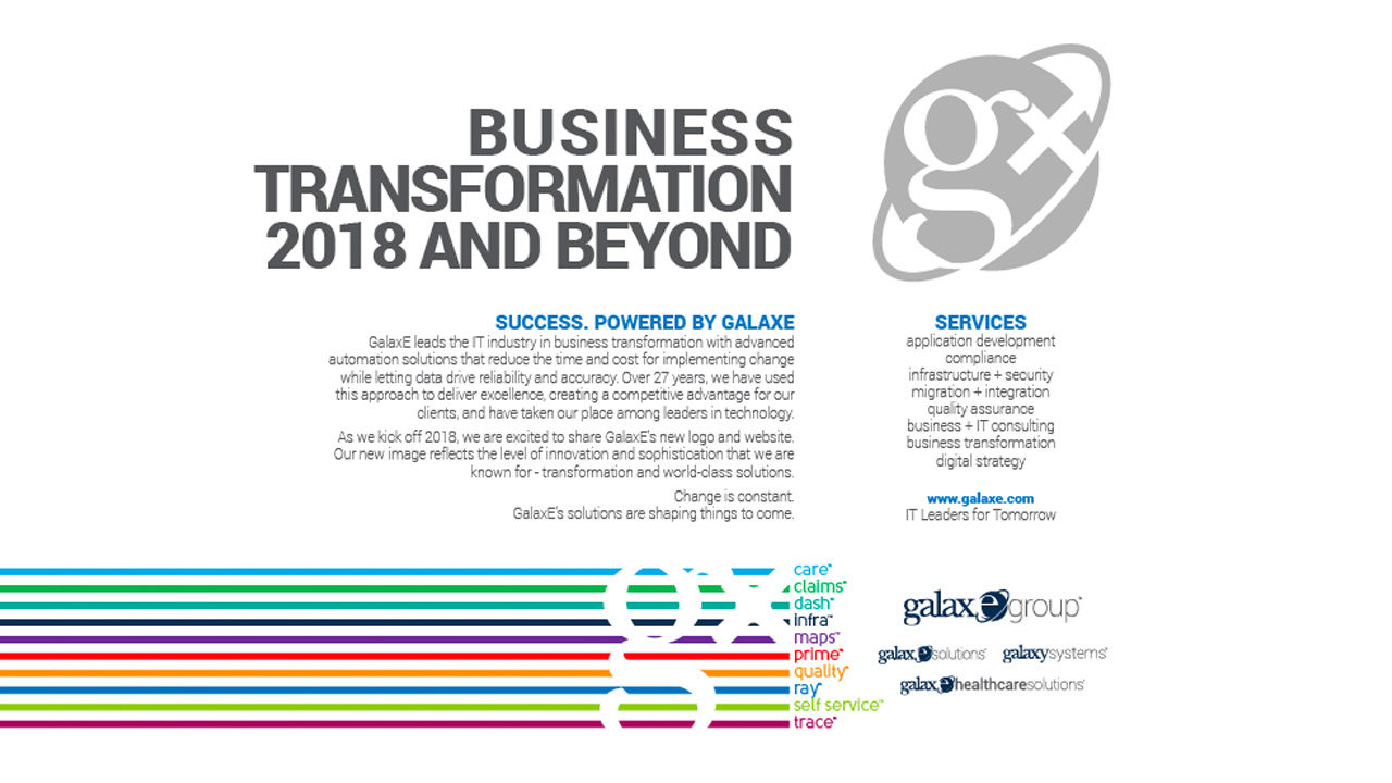 GalaxE Business Transformation 2018 and Beyond