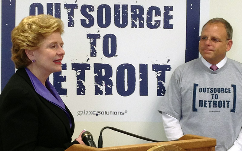 Tim Bryan and Debbie Stabenow