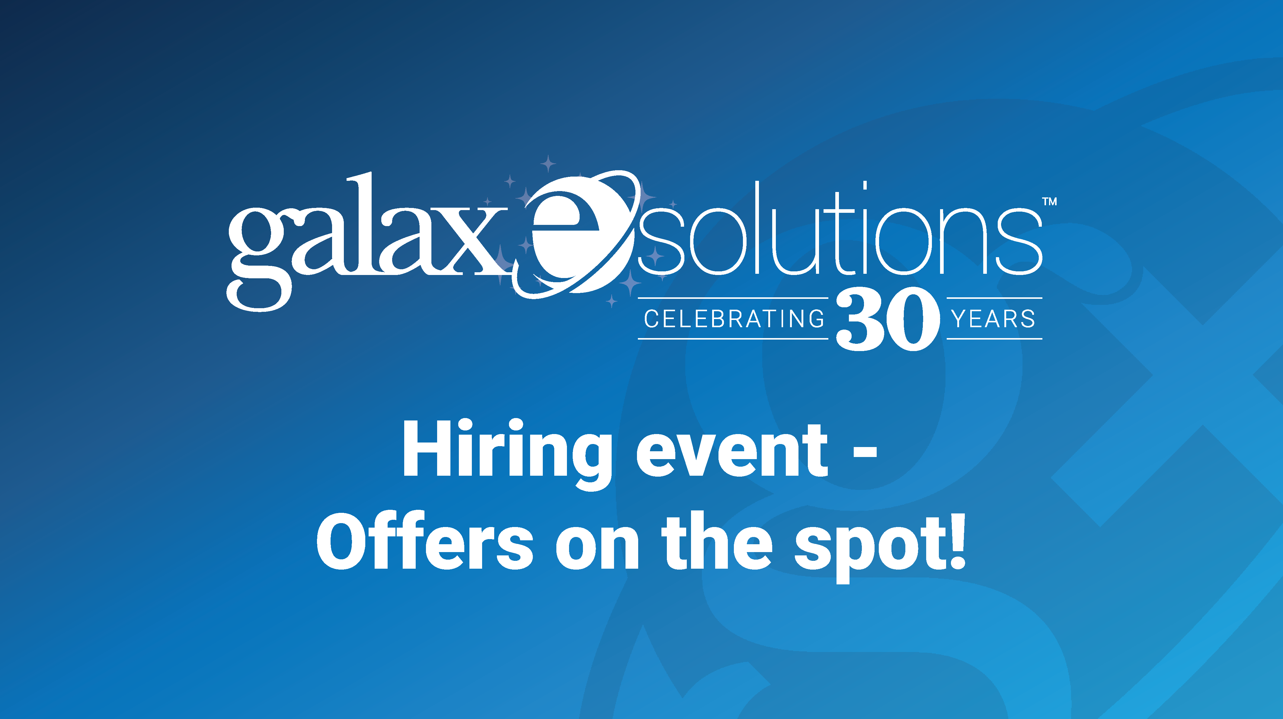 GalaxE.Solutions Announces Hartford Hiring Event on March 4th