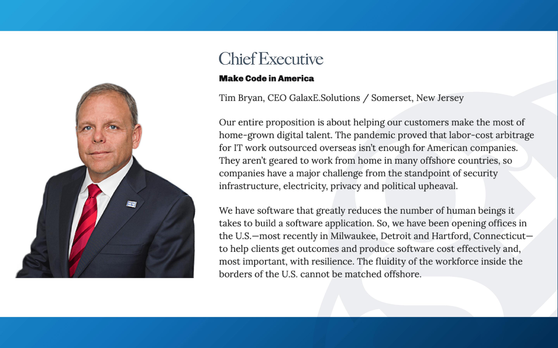 Tim Bryan in Chief Executive